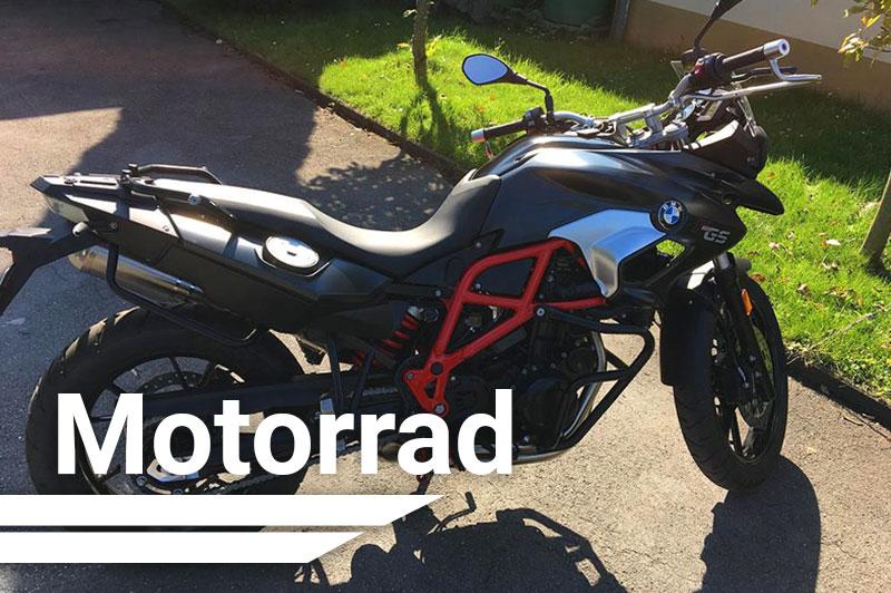 Schwarzes BMW Motorrad von Dirk's Fahrschule in Schwerte